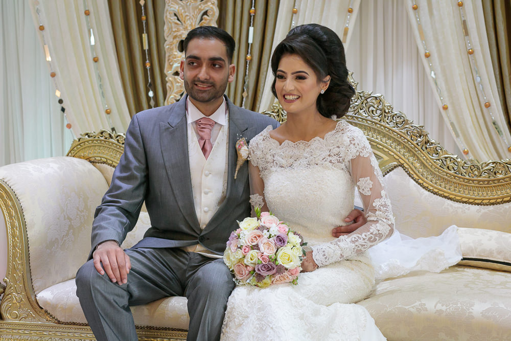 Muslim Groom with his Bride.