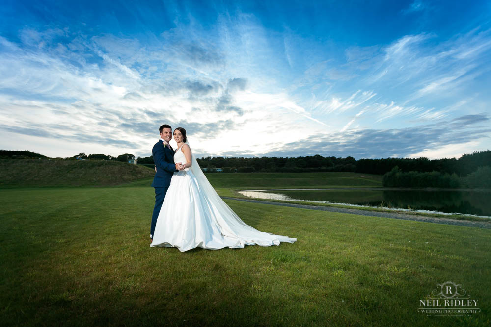 Bride and Groom at Delemere Events