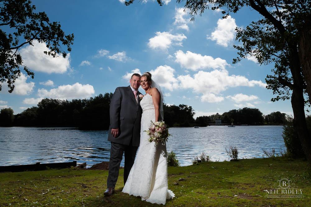 Bride and Groom at Stanley Pakrk