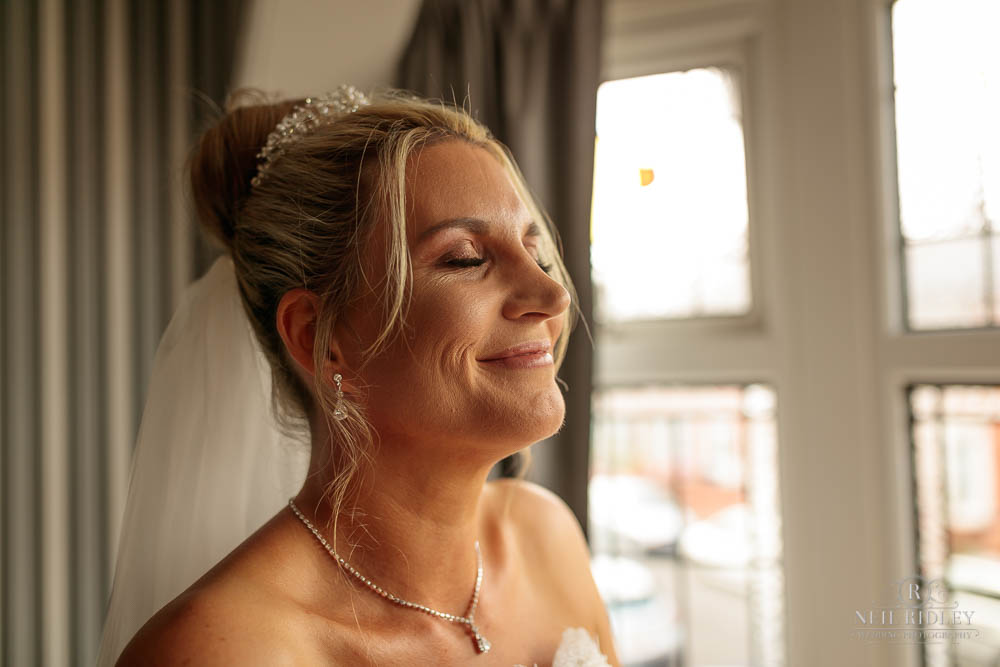 Bride during Bridal Prep.