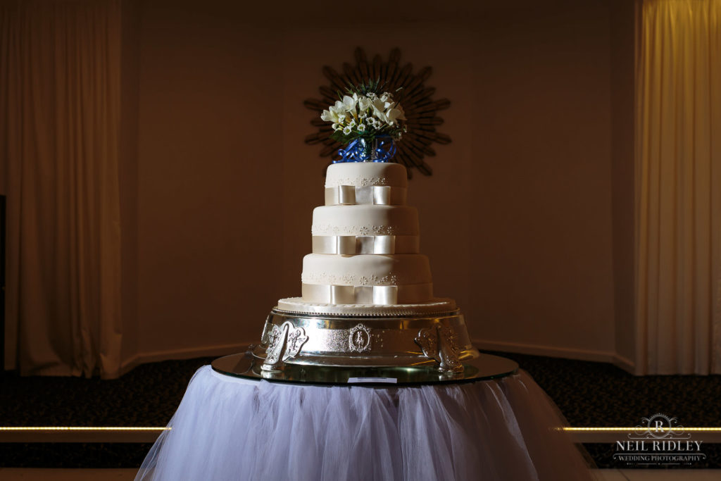 wedding Cake at The Park House Hotel, Blackpool