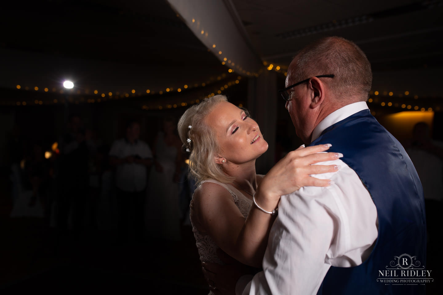 Bride and groom have first dance at Maccdonald Portal Spa and Hotel