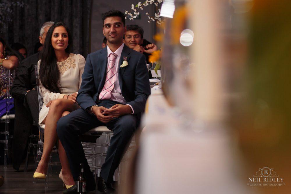 Merrydale Manor Wedding Photographer - Wedding guests listen to speeches
