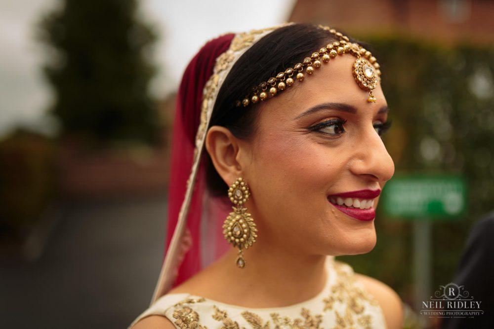 Merrydale Manor Wedding Photographer - Hindu Bride close up