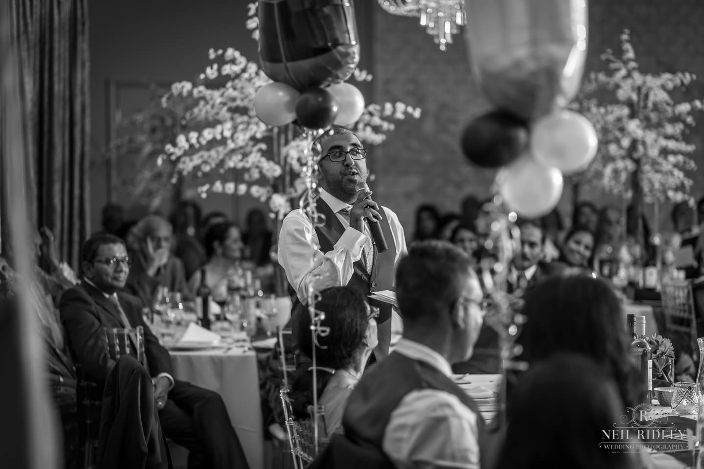 Merrydale Manor Wedding Photographer - Best man giving his speech