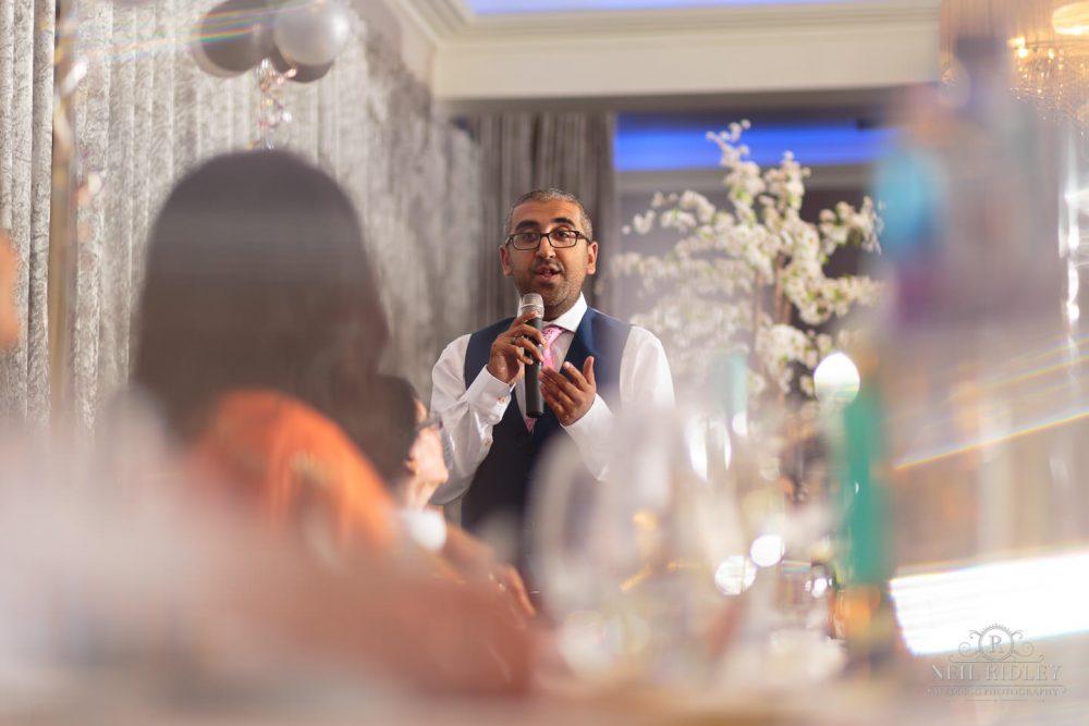 Merrydale Manor Wedding Photographer - Best Mans speech