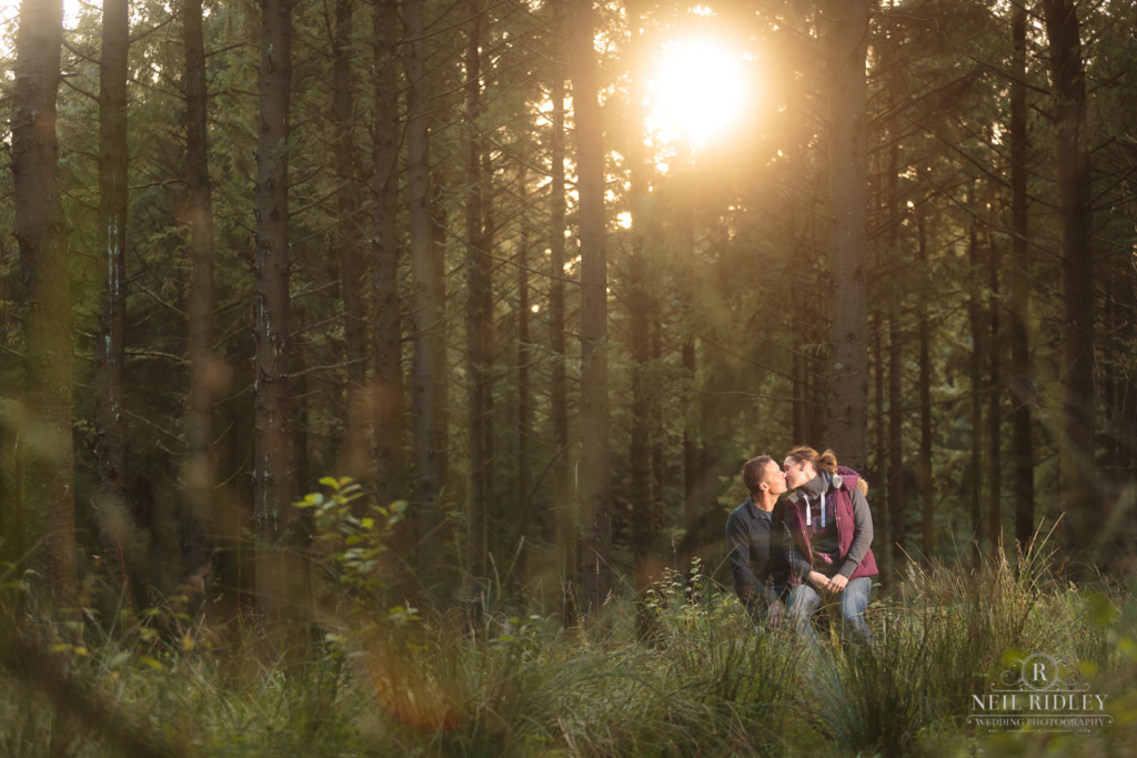 Couple in a forest Pre Wedding Photoshoot
