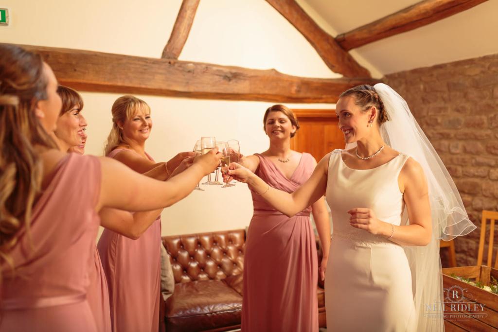 Beeston Manor Wedding Photographer - Bridal Party Toast
