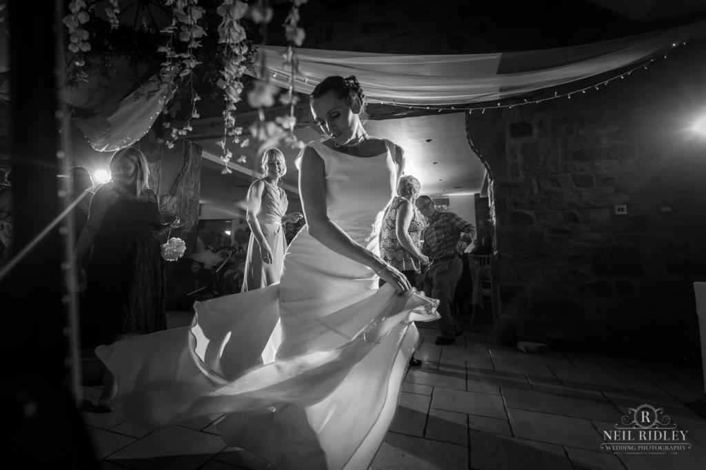 Beeston Manor Wedding Photographer - Bride on Dancefloor