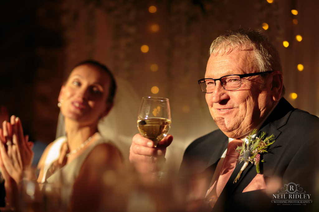 Beeston Manor Wedding Photographer - Father of the Bride Toast
