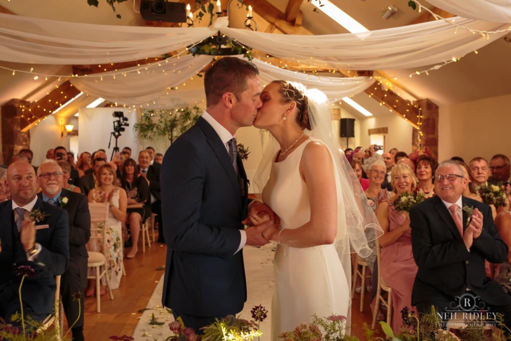 Beeston Manor Wedding Photographer - First Kiss