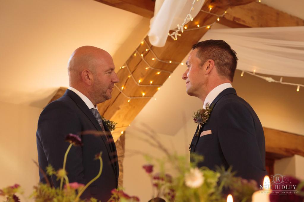 Beeston Manor Wedding Photographer - Groom Waiting