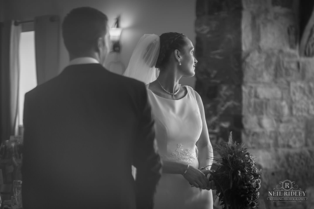 Beeston Manor Wedding Photographer - Black and White Bride and Groom