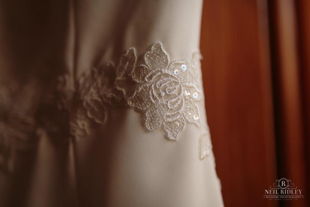 Beeston Manor Wedding Photographer - Wedding Dress Detail