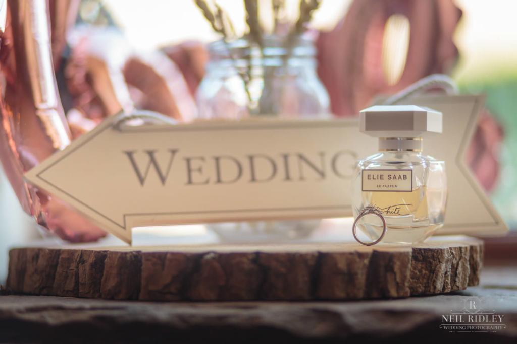 Beeston Manor Wedding Photographer - Wedding Ring Setup